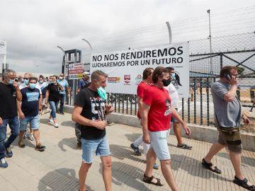 Protesta de los trabajadores de Nissan
