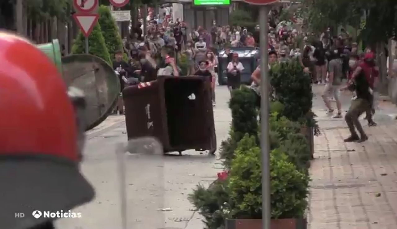 Disturbios en un mitin de Vox en Barakaldo