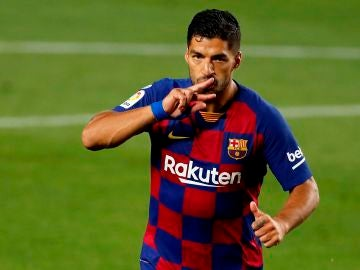 Luis Suárez, tras anotar el gol ante el Espanyol