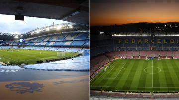 El Etihad Stadium y el Camp Nou