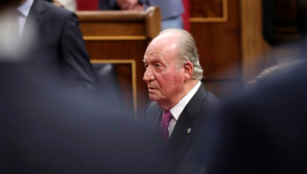 El rey emérito Juan Carlos en el Congreso de los Diputados en una imagen de archivo