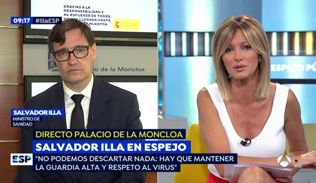 Susanna Griso entrevista al ministro de Sanidad Salvador Illa en Espejo Público