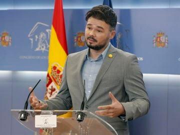 El recado en Twitter de Gabriel Rufián al Barcelona tras el descenso del Espanyol