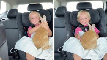 Llora de felicidad al conseguir un nuevo conejito