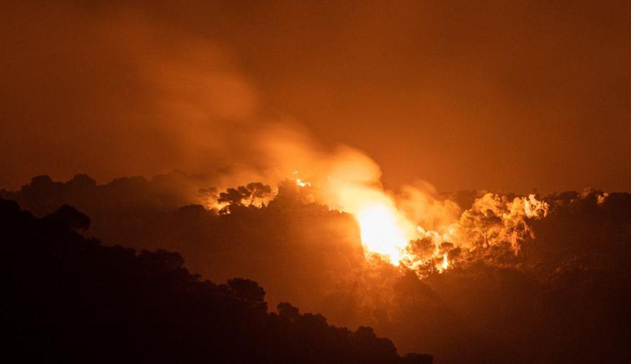 Incendio en Cazorla.