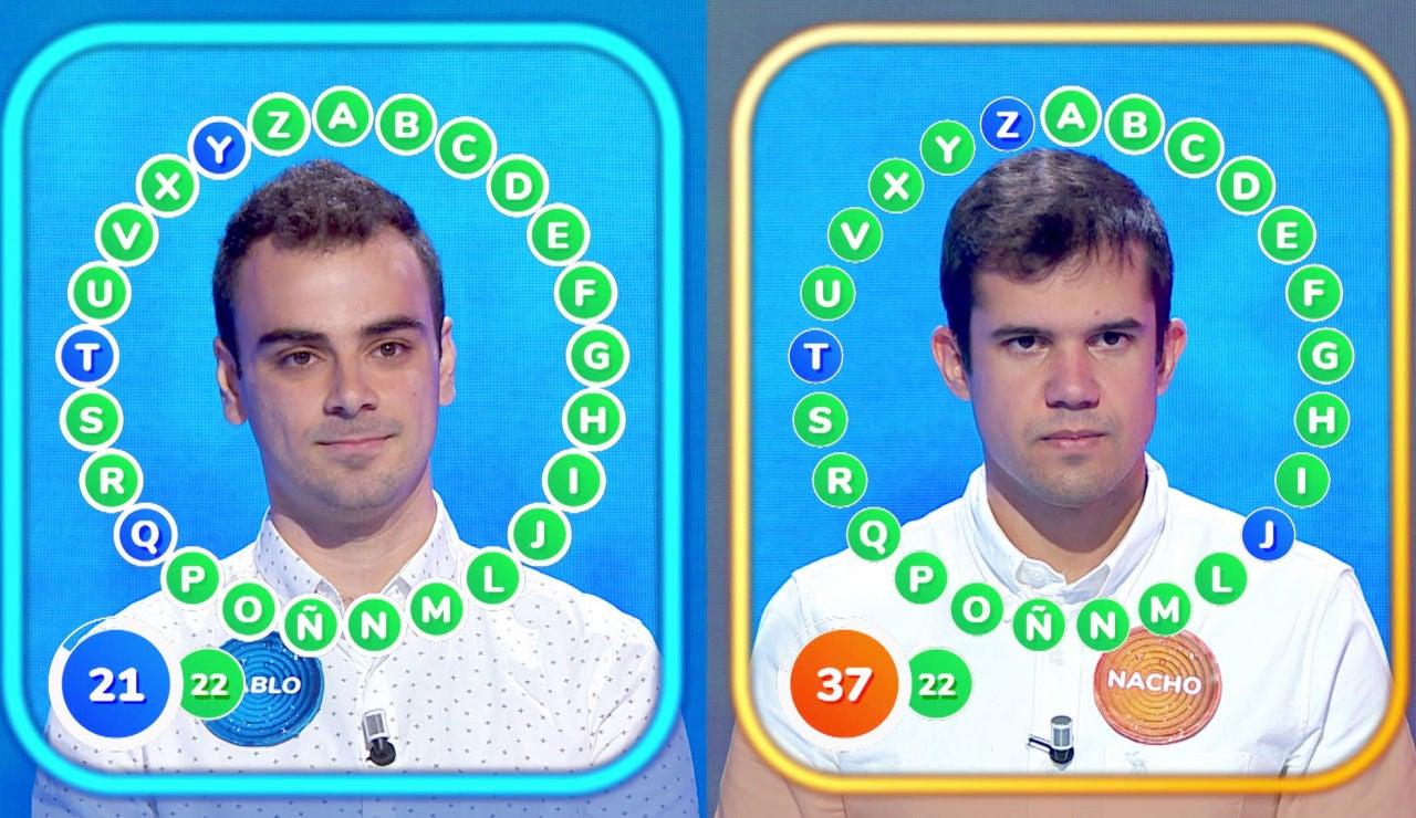 Un nuevo intenso duelo entre Pablo y Nacho en 'El Rosco': ¡Muy cerca de los 328.000 euros!