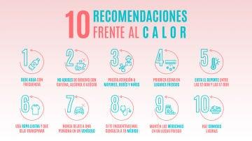 10 recomendaciones frente al calor en verano