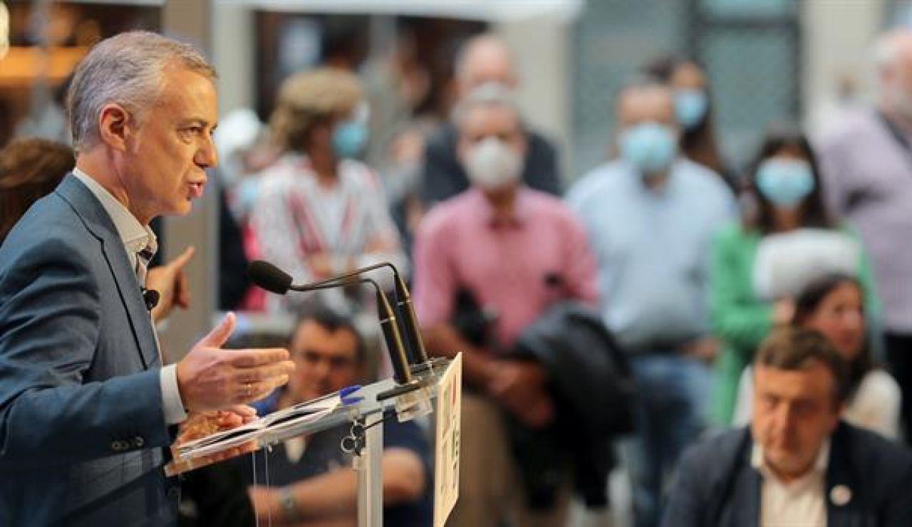 Iñigo Urkullu en el cierre de campaña de País Vasco 2020
