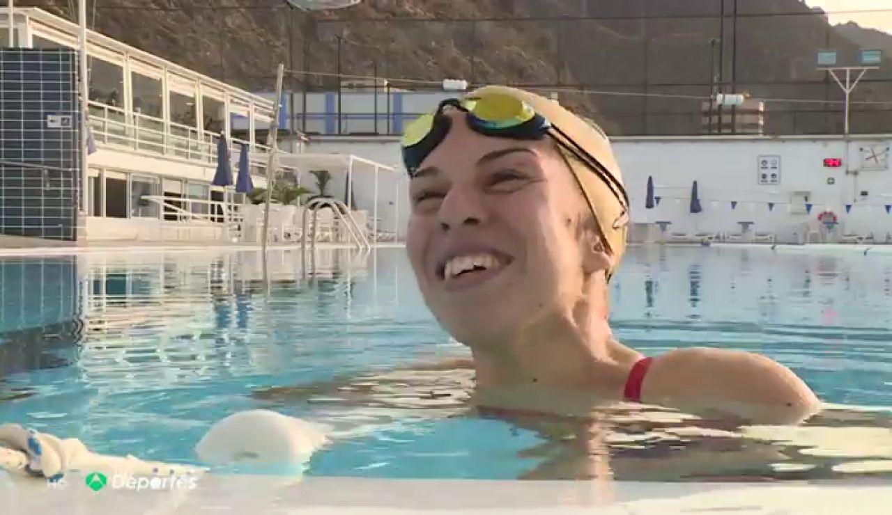 """Michelle Alonso y Judith Rolo vuelven entrenar en la piscina tras meses de confinamiento: """"Fue sentir el agua y decir: '¡Por fin!'"""""""