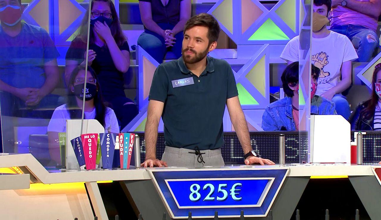 La buena y estratégica decisión de Carlos para bordarlo en un panel en 'La ruleta de la suerte'