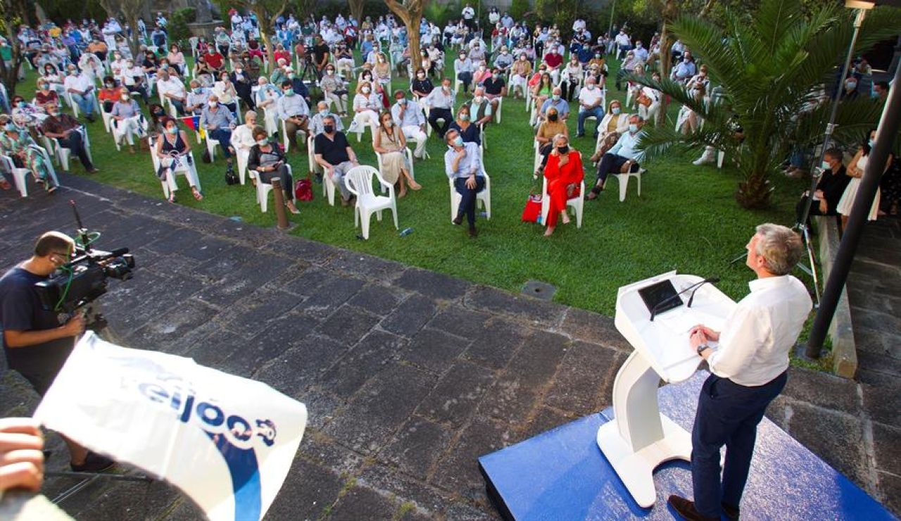 Los candidatos de las elecciones gallegas enfilan la recta final de la primera campaña post-coronavirus