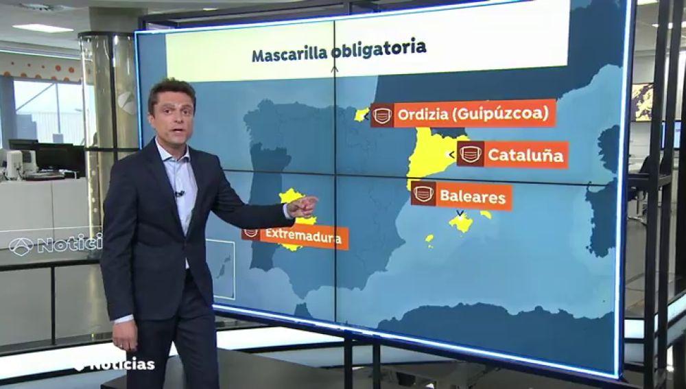 El uso de la mascarilla será obligatorio en Extremadura a partir de este sábado