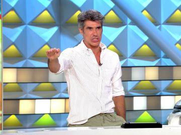 El disgusto de Jorge Fernández por la afición de un concursante en 'La ruleta de la suerte'