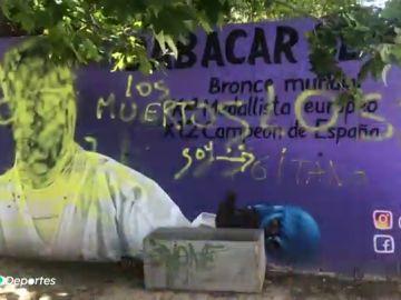 "Pintadas nazis e insultos racistas contra el karateka español Babacar Seck en Zaragoza: ""Muertos los negros"""