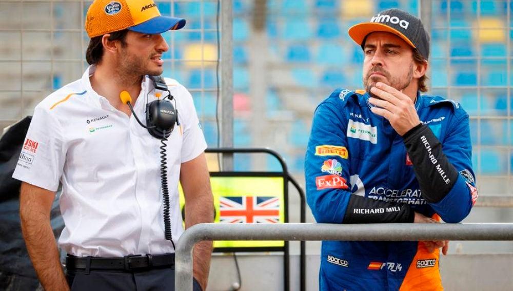 Fernando Alonso y Carlos Sainz Jr