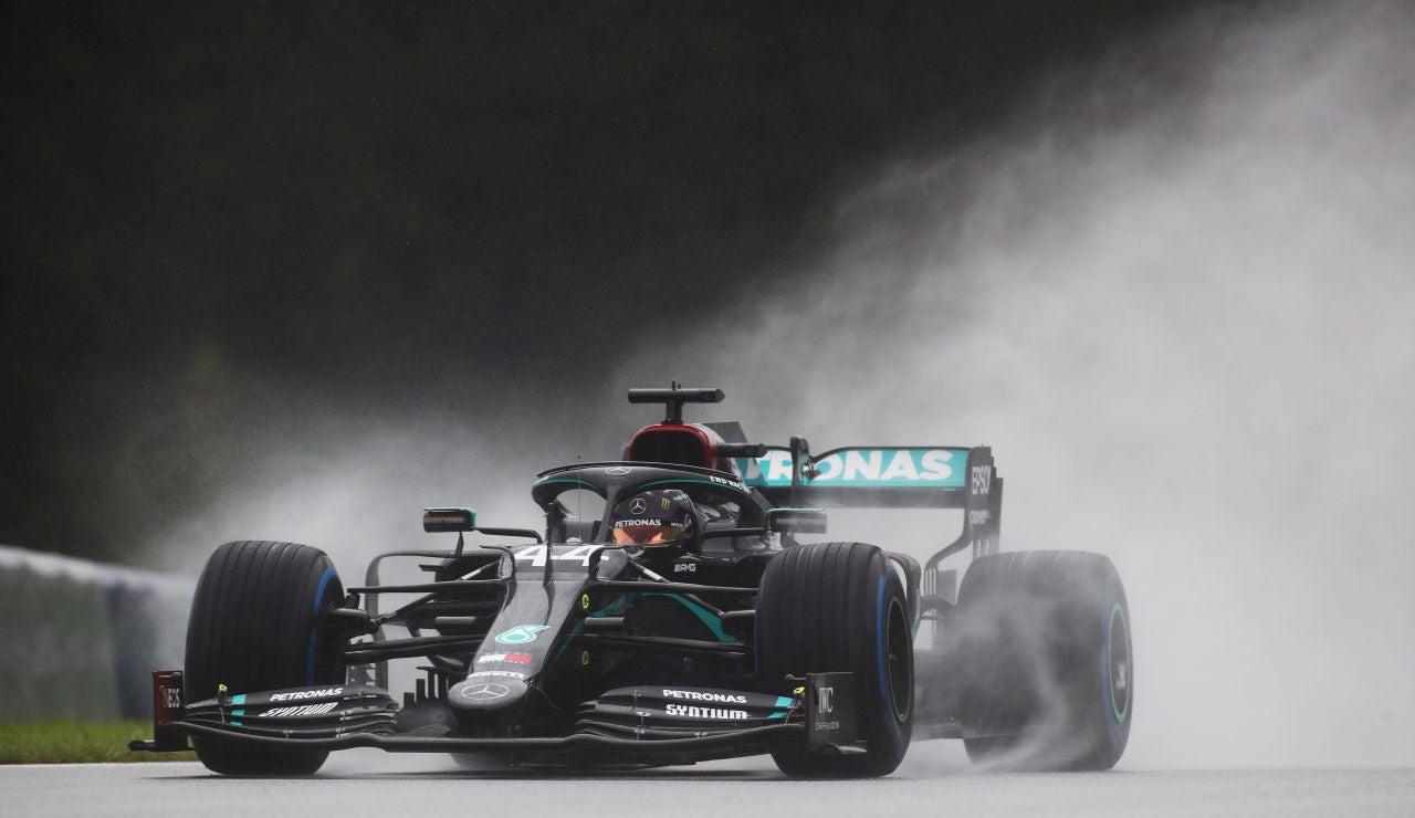 Lewis Hamilton, durante la clasificación del GP de Estiria