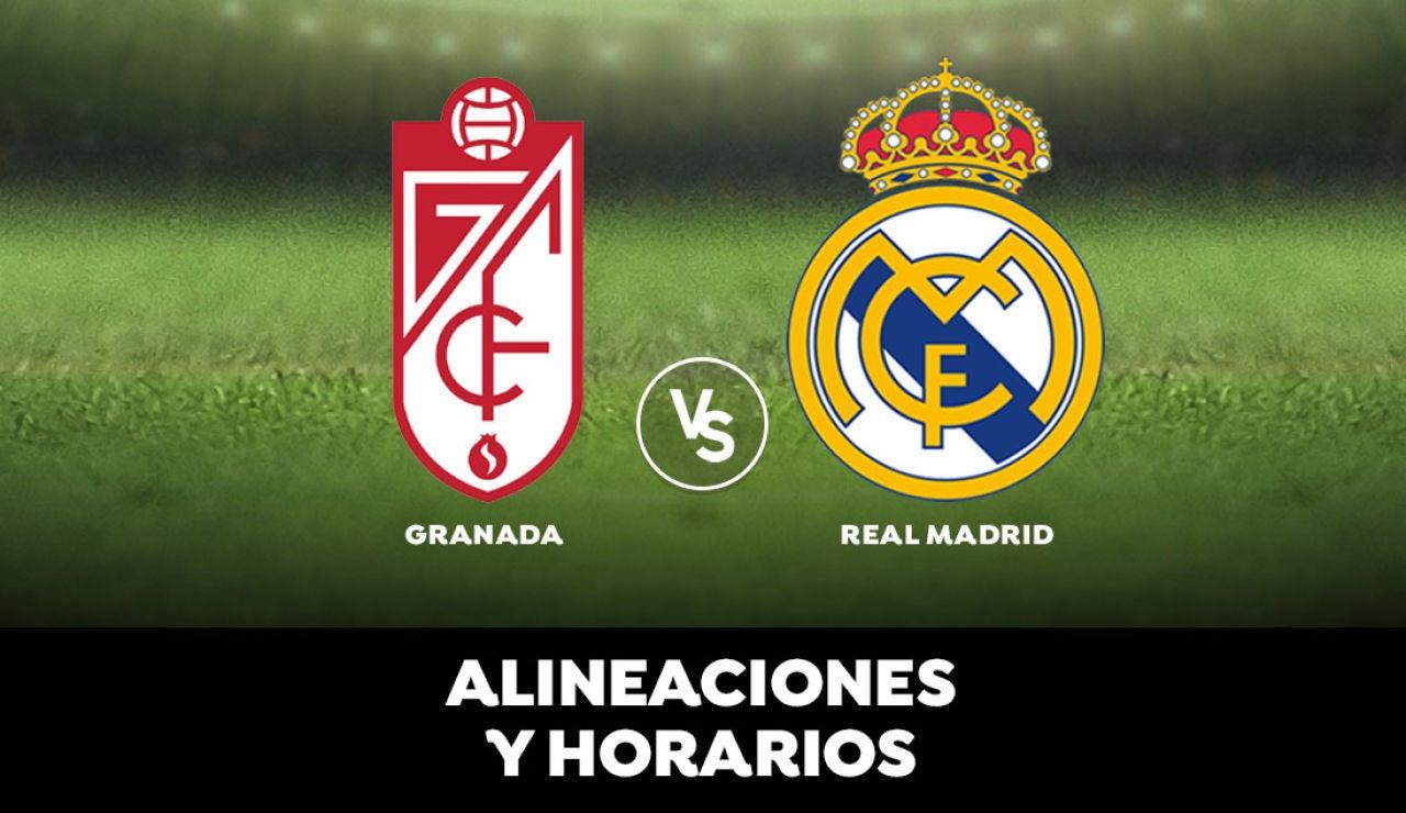 Granada - Real Madrid: Alineaciones, horarios y dónde ver
