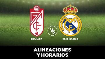 Granada - Real Madrid: Alineación del Real Madrid hoy y dónde ver el partido de la Liga en directo