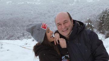 Andoni Ortuzar y su hija Garazi