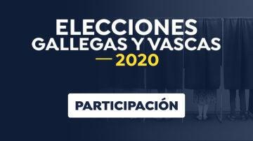 Participación elecciones gallegas y vascas 2020
