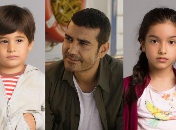 Caner Cindoruk, Kübra Süzgün y Ali Semi Sefil, actores de 'Mujer'