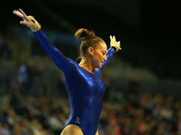Lisa Mason, en su época como gimnasta