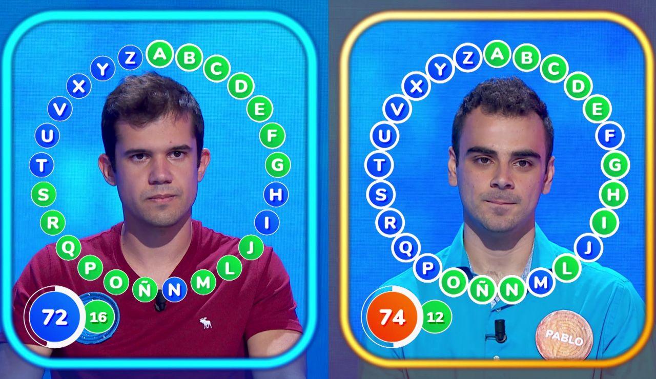 Estrategia y riesgo durante un duelo muy igualado entre Nacho y Pablo en 'El Rosco'