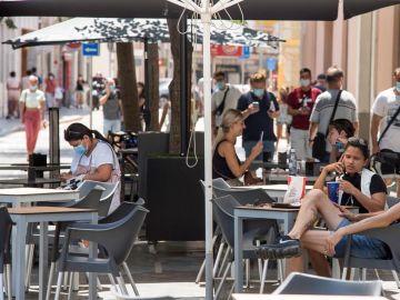 Terraza en la calle en Baleares
