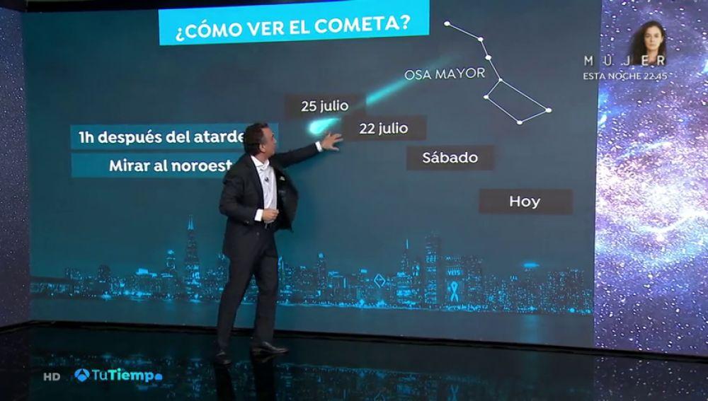 Cuándo y cómo ver el cometa Neowise desde España hoy