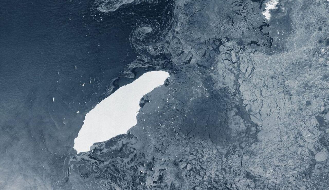El iceberg que se desprendió de la Antártida