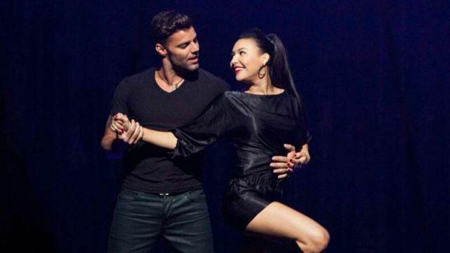 Ricky Martin y Naya Rivera en 'Glee'