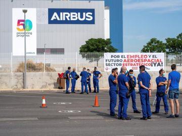 Protestas trabajadores de Airbus