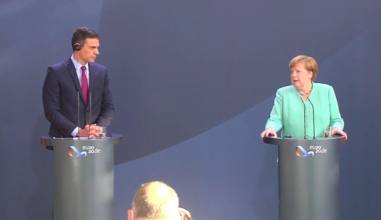 Angela Merkel defiende como España un acuerdo rápido sobre los fondos europeos anti coronavirus