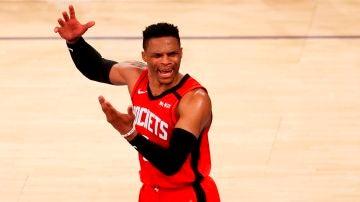 Russell Westbrook, en un partido de los Rockets