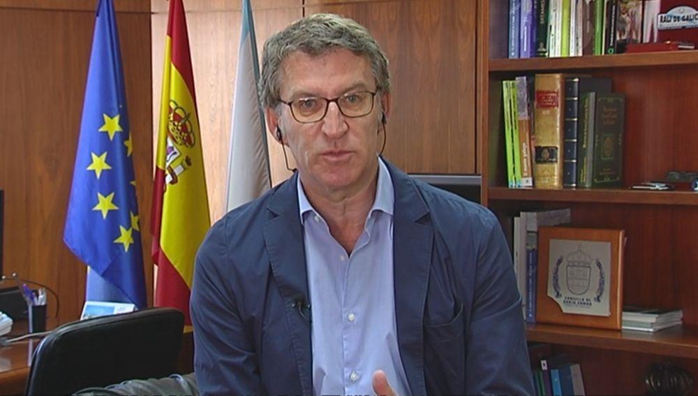 Alberto Núñez Feijóo, presidente de la Xunta, vencedor en las elecciones gallegas 2020