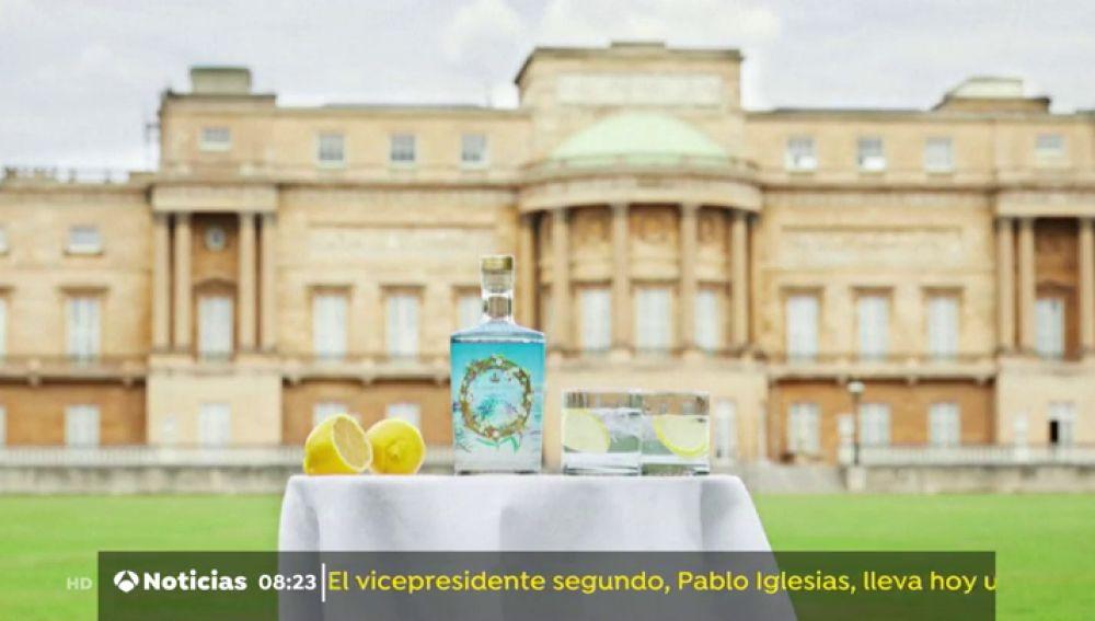 Botella de ginebra de la familia real británica
