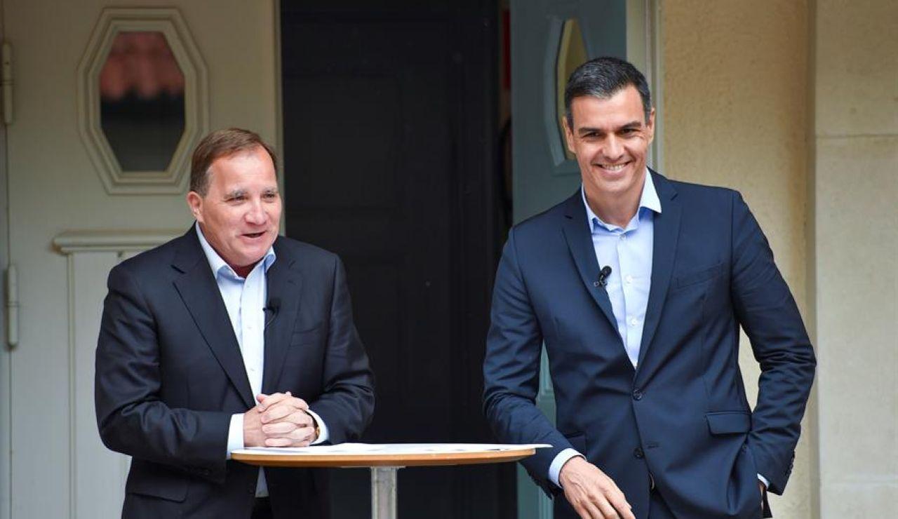 """Pedro Sánchez tras la reunión con el primer ministro sueco para conseguir apoyos ante el Fondo de Recuperación: """"Espero llegar a un acuerdo en julio"""""""