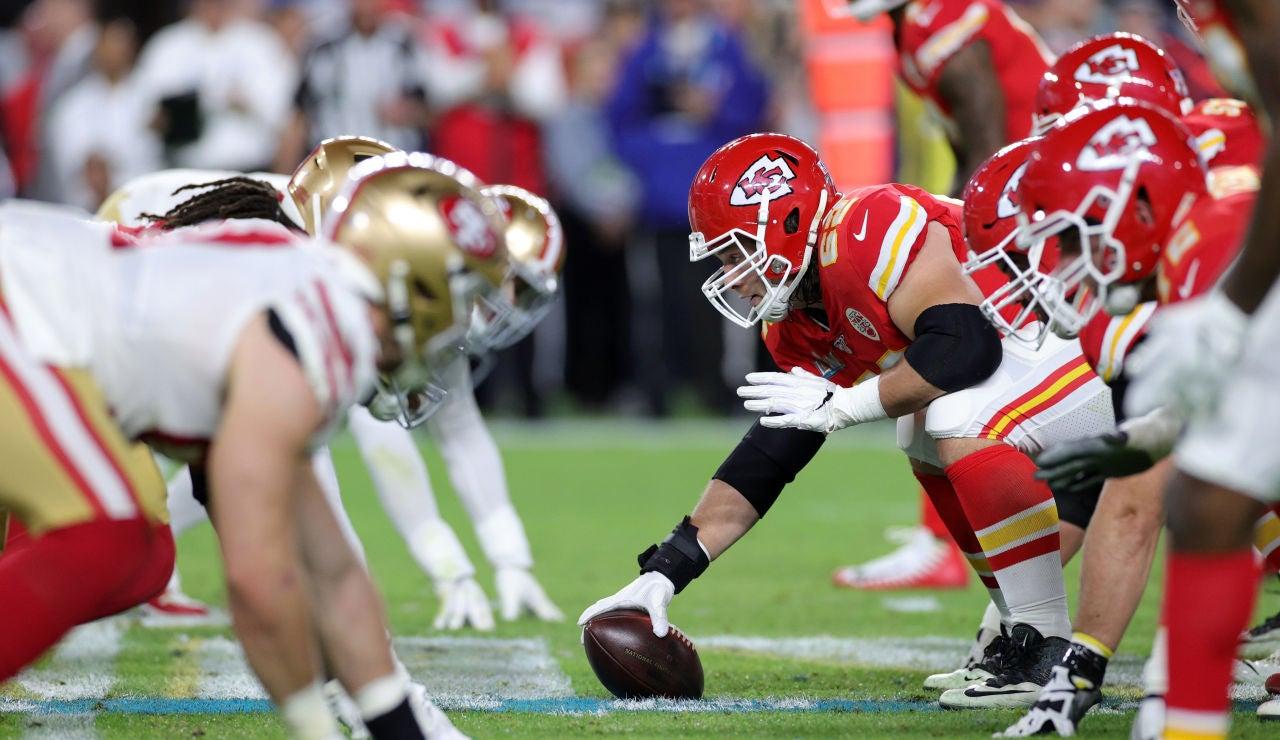 Imágen de la final de la SuperBowl entre los San Francisco 49ers y los Kansas City Chiefs