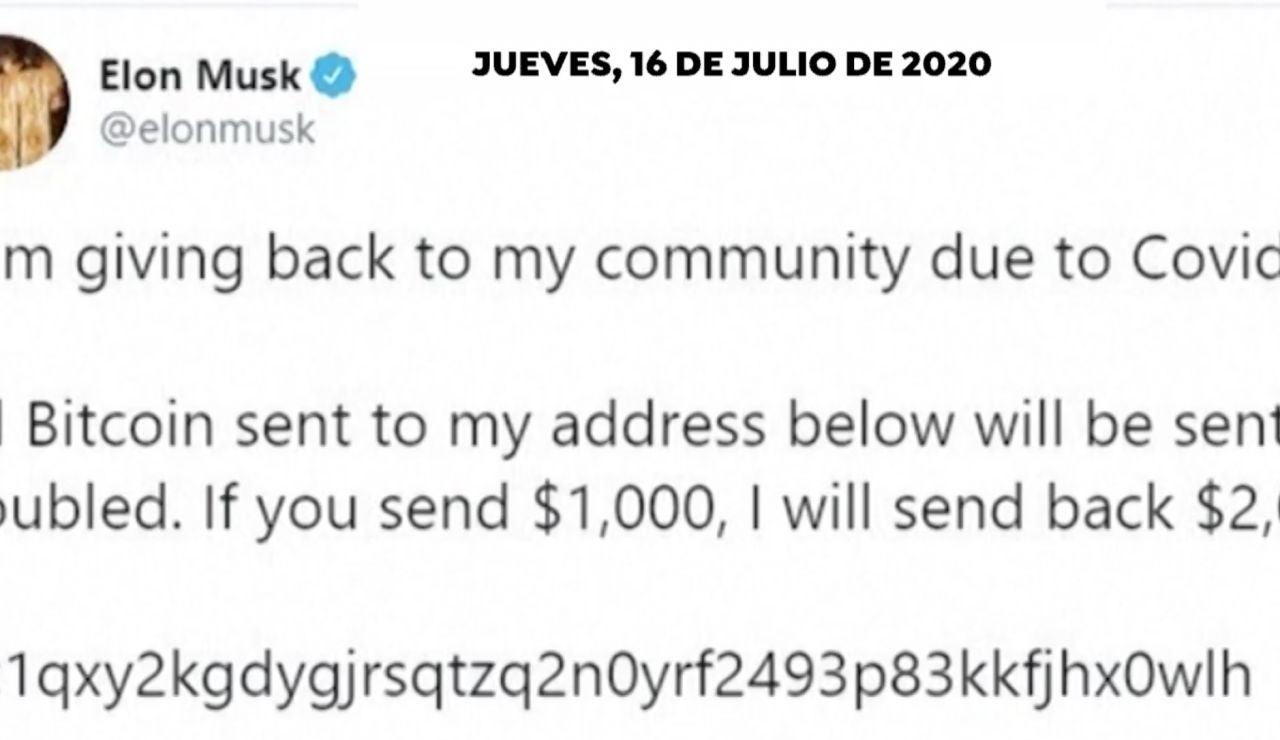 Cuenta oficial de Twitter Elon Musk
