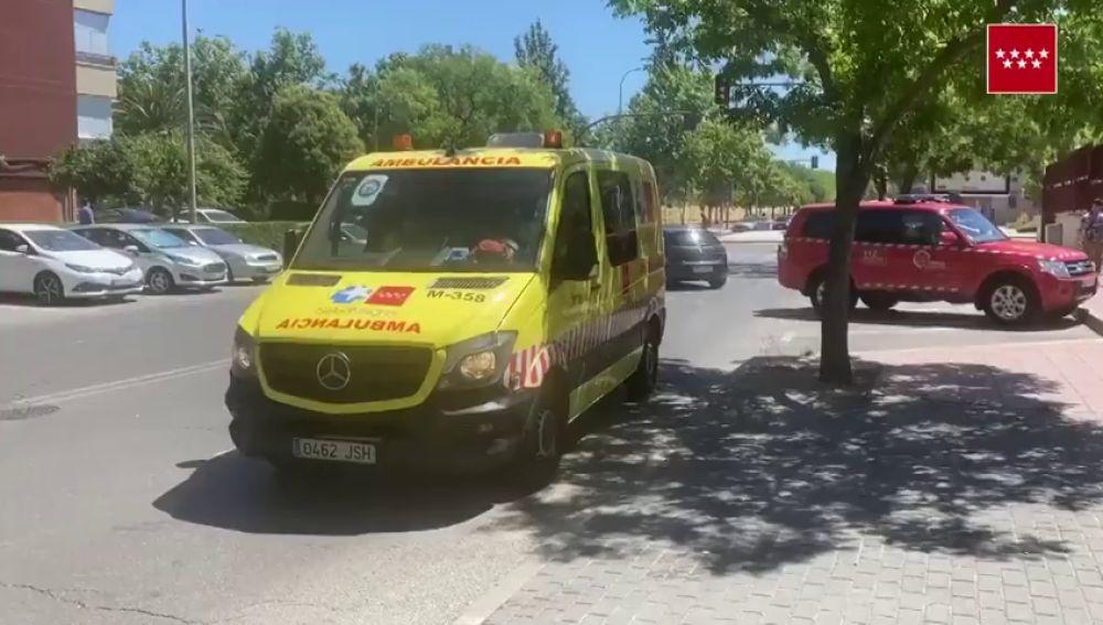 Un ciclista de 77 años, herido de gravedad tras ser arrollado por un coche en Móstoles