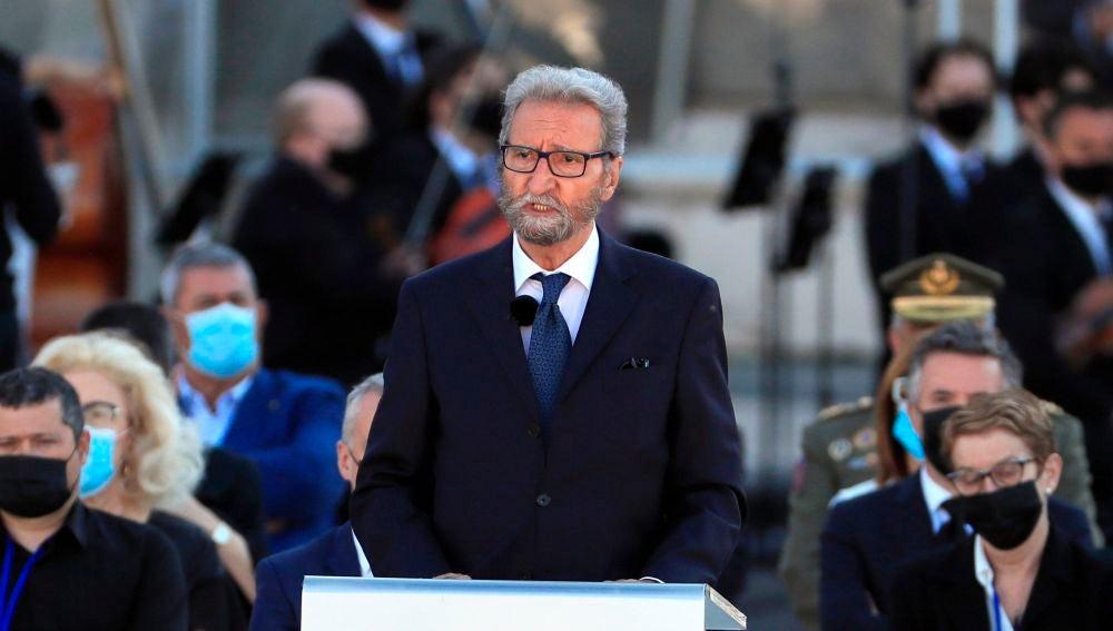 Hernando Calleja, hermano de José María Calleja, en el funeral de Estado