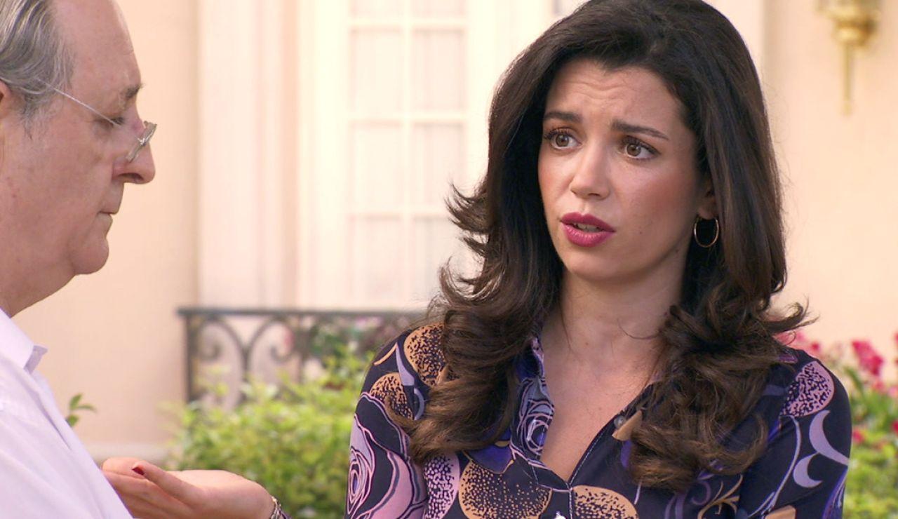 Avance 'Amar es para siempre': Amelia y Pelayo, sorprendidos ante la repentina decisión de Luisita