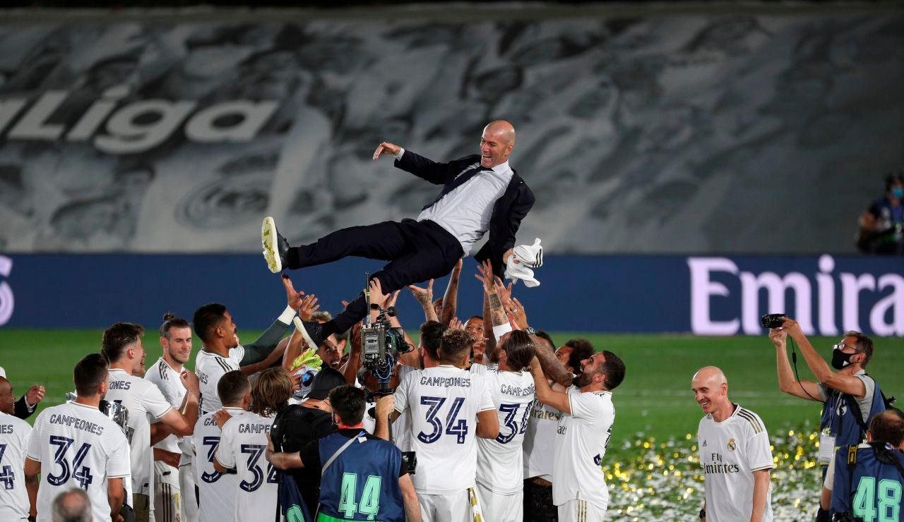 """Zidane, tras ganar la Liga: """"Hoy es uno de mis mejores días como profesional"""""""