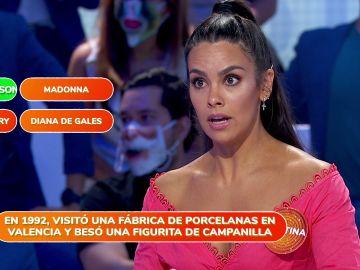 """""""¿De verdad?"""", Cristina Pedroche se asombra de su propio acierto en 'Una de Cuatro'"""