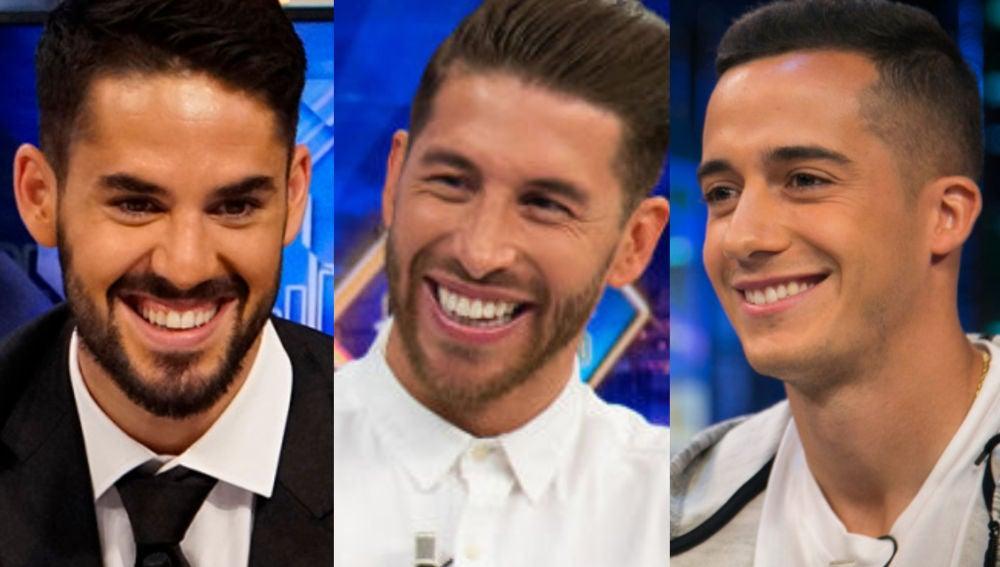 Sergio Ramos, Isco Alarcón y Lucas Vázquez en 'El Hormiguero 3.0'