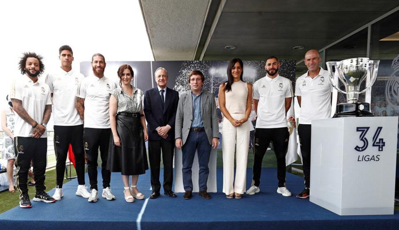 """El Real Madrid celebra el título en su Ciudad Deportiva: """"Será siempre la Liga más difícil en el momento más difícil"""""""