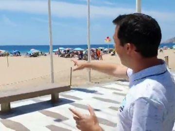 La odisea de los bañistas para acceder a la playa en Benidorm