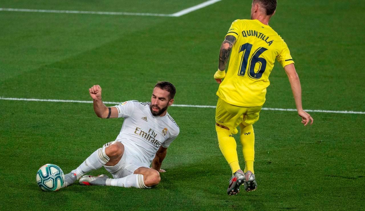 Dani Carvajal, en el partido ante el Villarreal