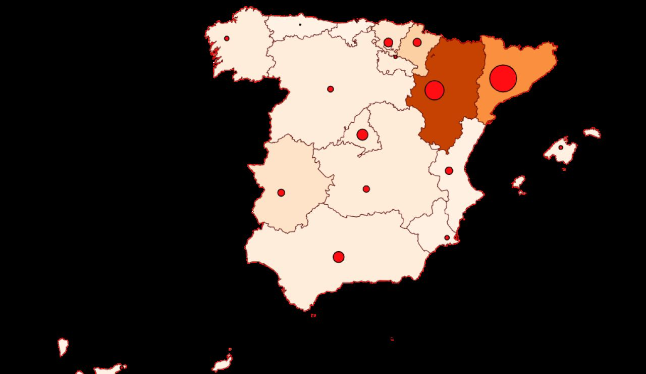 Mapa de contagios y muertos de coronavirus en España y el mundo hoy martes 24 de agosto de 2020