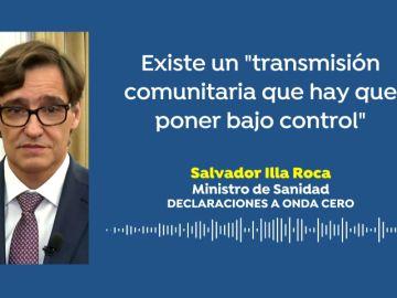 """Salvador Illa, sobre los brotes de Lleida y Hospitalet: """"Existe una transmisión comunitaria que hay que poner bajo control"""""""